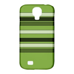 Greenery Stripes Pattern Horizontal Stripe Shades Of Spring Green Samsung Galaxy S4 Classic Hardshell Case (PC+Silicone)