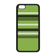 Greenery Stripes Pattern Horizontal Stripe Shades Of Spring Green Apple iPhone 5C Seamless Case (Black)