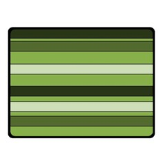 Greenery Stripes Pattern Horizontal Stripe Shades Of Spring Green Double Sided Fleece Blanket (Small)