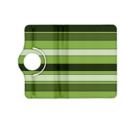Greenery Stripes Pattern Horizontal Stripe Shades Of Spring Green Kindle Fire HD (2013) Flip 360 Case