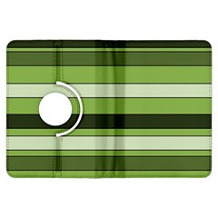 Greenery Stripes Pattern Horizontal Stripe Shades Of Spring Green Kindle Fire HDX Flip 360 Case
