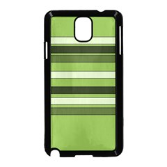 Greenery Stripes Pattern Horizontal Stripe Shades Of Spring Green Samsung Galaxy Note 3 Neo Hardshell Case (Black)