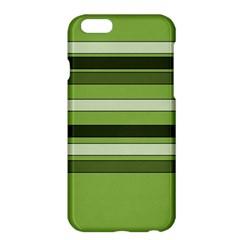 Greenery Stripes Pattern Horizontal Stripe Shades Of Spring Green Apple iPhone 6 Plus/6S Plus Hardshell Case