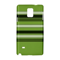 Greenery Stripes Pattern Horizontal Stripe Shades Of Spring Green Samsung Galaxy Note 4 Hardshell Case