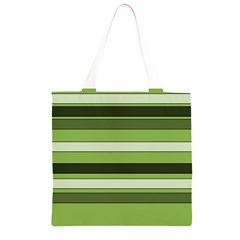 Greenery Stripes Pattern Horizontal Stripe Shades Of Spring Green Grocery Light Tote Bag