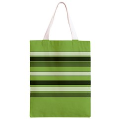Greenery Stripes Pattern Horizontal Stripe Shades Of Spring Green Classic Light Tote Bag