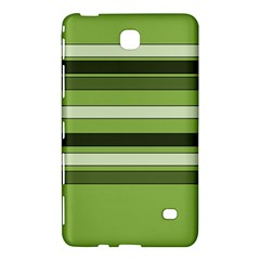 Greenery Stripes Pattern Horizontal Stripe Shades Of Spring Green Samsung Galaxy Tab 4 (8 ) Hardshell Case