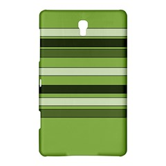 Greenery Stripes Pattern Horizontal Stripe Shades Of Spring Green Samsung Galaxy Tab S (8.4 ) Hardshell Case