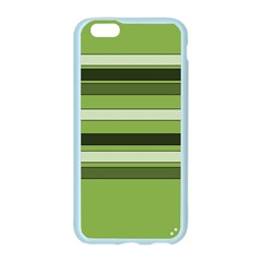 Greenery Stripes Pattern Horizontal Stripe Shades Of Spring Green Apple Seamless iPhone 6/6S Case (Color)