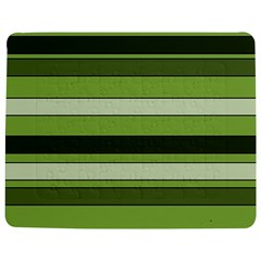 Greenery Stripes Pattern Horizontal Stripe Shades Of Spring Green Jigsaw Puzzle Photo Stand (Rectangular)