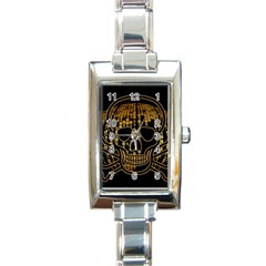 Virus Computer Encryption Trojan Rectangle Italian Charm Watch
