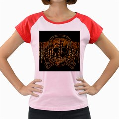Virus Computer Encryption Trojan Women s Cap Sleeve T-Shirt