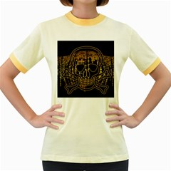Virus Computer Encryption Trojan Women s Fitted Ringer T-Shirts