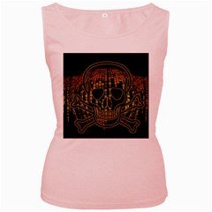 Virus Computer Encryption Trojan Women s Pink Tank Top