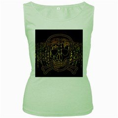 Virus Computer Encryption Trojan Women s Green Tank Top