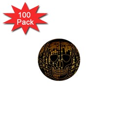 Virus Computer Encryption Trojan 1  Mini Buttons (100 pack)