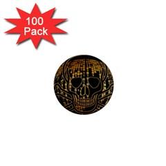Virus Computer Encryption Trojan 1  Mini Magnets (100 pack)