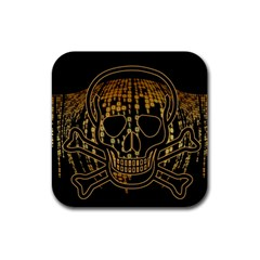 Virus Computer Encryption Trojan Rubber Coaster (Square)