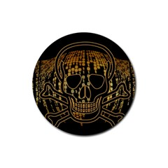 Virus Computer Encryption Trojan Rubber Round Coaster (4 pack)