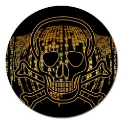 Virus Computer Encryption Trojan Magnet 5  (Round)