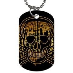Virus Computer Encryption Trojan Dog Tag (One Side)