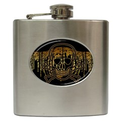 Virus Computer Encryption Trojan Hip Flask (6 oz)