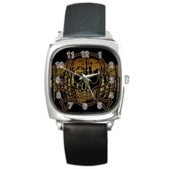 Virus Computer Encryption Trojan Square Metal Watch