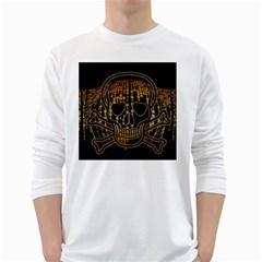 Virus Computer Encryption Trojan White Long Sleeve T-Shirts