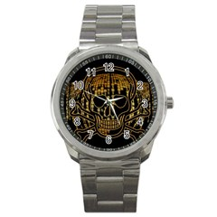 Virus Computer Encryption Trojan Sport Metal Watch