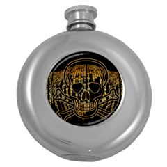 Virus Computer Encryption Trojan Round Hip Flask (5 oz)