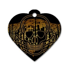 Virus Computer Encryption Trojan Dog Tag Heart (One Side)