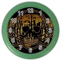Virus Computer Encryption Trojan Color Wall Clocks