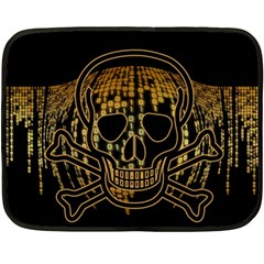 Virus Computer Encryption Trojan Double Sided Fleece Blanket (Mini)