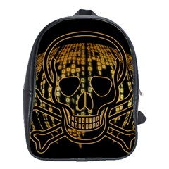 Virus Computer Encryption Trojan School Bags(Large)