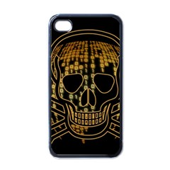 Virus Computer Encryption Trojan Apple iPhone 4 Case (Black)