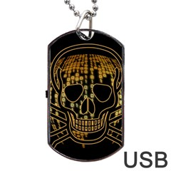 Virus Computer Encryption Trojan Dog Tag USB Flash (One Side)