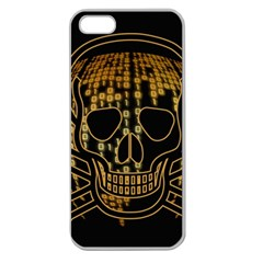 Virus Computer Encryption Trojan Apple Seamless iPhone 5 Case (Clear)