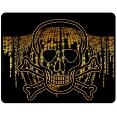 Virus Computer Encryption Trojan Double Sided Fleece Blanket (Medium)
