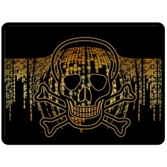 Virus Computer Encryption Trojan Double Sided Fleece Blanket (Large)