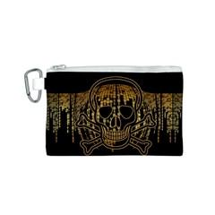 Virus Computer Encryption Trojan Canvas Cosmetic Bag (S)