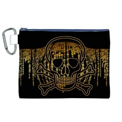 Virus Computer Encryption Trojan Canvas Cosmetic Bag (XL)
