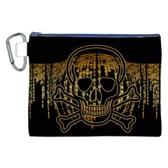 Virus Computer Encryption Trojan Canvas Cosmetic Bag (XXL)