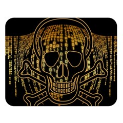Virus Computer Encryption Trojan Double Sided Flano Blanket (Large)
