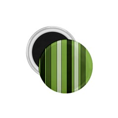 Greenery Stripes Pattern 8000 Vertical Stripe Shades Of Spring Green Color 1.75  Magnets