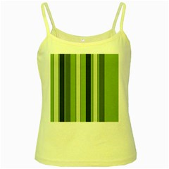 Greenery Stripes Pattern 8000 Vertical Stripe Shades Of Spring Green Color Yellow Spaghetti Tank
