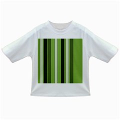 Greenery Stripes Pattern 8000 Vertical Stripe Shades Of Spring Green Color Infant/Toddler T-Shirts