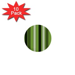 Greenery Stripes Pattern 8000 Vertical Stripe Shades Of Spring Green Color 1  Mini Buttons (10 pack)