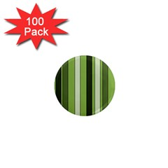 Greenery Stripes Pattern 8000 Vertical Stripe Shades Of Spring Green Color 1  Mini Magnets (100 pack)
