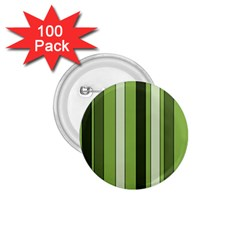 Greenery Stripes Pattern 8000 Vertical Stripe Shades Of Spring Green Color 1.75  Buttons (100 pack)