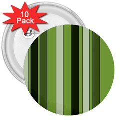 Greenery Stripes Pattern 8000 Vertical Stripe Shades Of Spring Green Color 3  Buttons (10 pack)